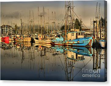 Evening At The Ucluelet Harbor Canvas Print by Adam Jewell