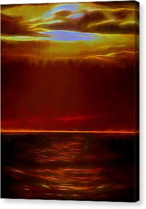 Evening Fire Canvas Print by Dan Sproul