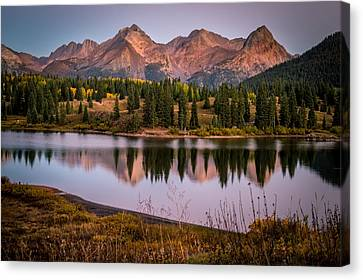 Evening Glow At Molas Lake Canvas Print by Michael J Bauer