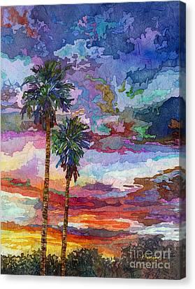 Evening Glow Canvas Print by Hailey E Herrera