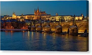 Evening In Prague Canvas Print by Martin Capek