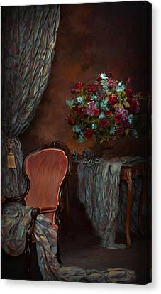 Evening In The  Parlor Canvas Print by Daria Doyle
