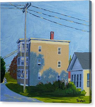 Evening Light Northern Avenue Canvas Print by Laurie Breton