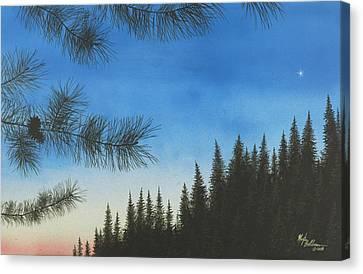 Evening Canvas Print by Martin Bellmann