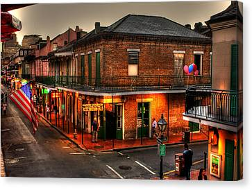 Evening On Bourbon Canvas Print by Greg and Chrystal Mimbs
