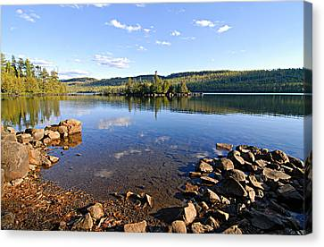 Evening On Cedar Lagoon Pine Lake Canvas Print by Larry Ricker