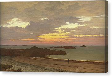 Evening On The Coast Canvas Print by Frederick William Meyer