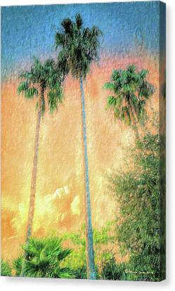 Evening Palms Canvas Print by Marvin Spates