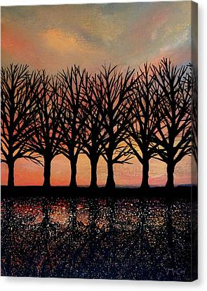 Evening Reflections Canvas Print by K McCoy