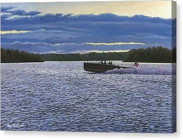 Evening Run Canvas Print by Richard De Wolfe