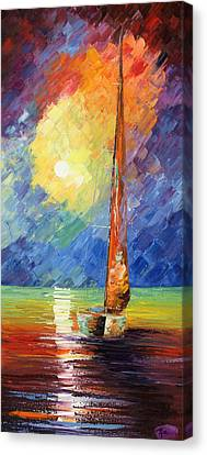 Evening Sail Canvas Print by Ash Hussein