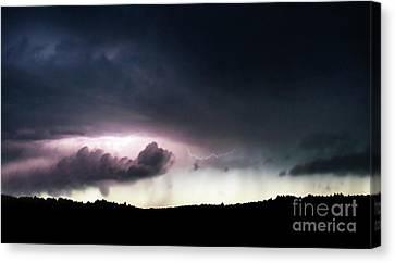 Evening Storm Canvas Print by Terril Heilman