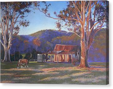 Evening Tapestry Dyers Crossing Canvas Print by Louise Green