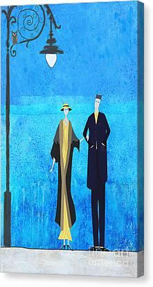 Evening Walk Canvas Print by J Ripley Fagence