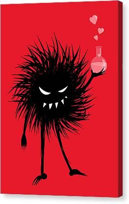 Evil Bug With A Love Potion Canvas Print by Boriana Giormova