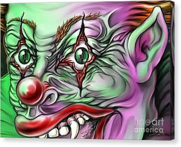 Evil Clown Eyes Canvas Print by Michael Spano
