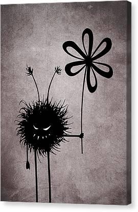 Evil Flower Bug Canvas Print by Boriana Giormova