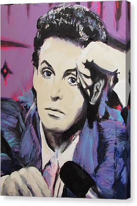 Evolution Of Paul Mccartney Canvas Print by Eric Dee
