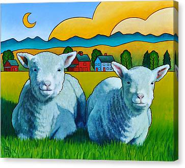 Ewe Two Canvas Print by Stacey Neumiller