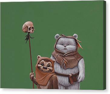 Ewoks Canvas Print by Jasper Oostland