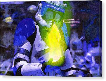 Execute Order 66 Blue Team Commander  - Camille Style -  - Da Canvas Print by Leonardo Digenio