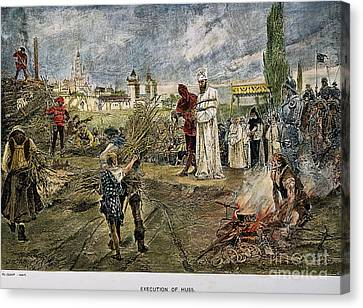 Execution Of Jan Hus, 1415 Canvas Print by Granger