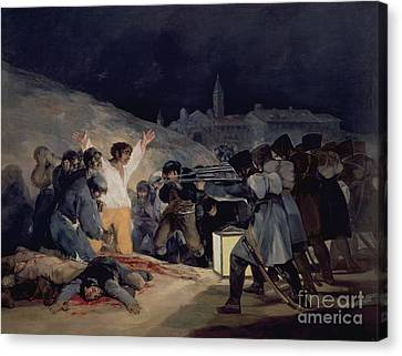 Execution Of The Defenders Of Madrid Canvas Print by Goya
