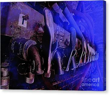 Exhaust And Oil Spickets Canvas Print by The Stone Age