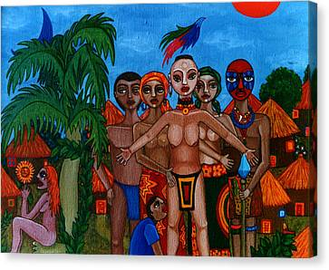 Exiled In Homeland Canvas Print by Madalena Lobao-Tello