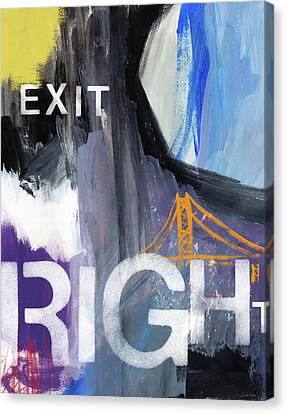 Exit Right- Art By Linda Woods Canvas Print by Linda Woods