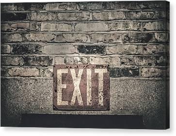 Exit Canvas Print by Scott Norris