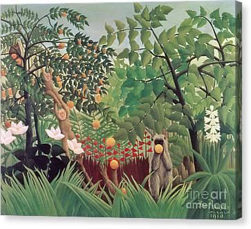 Exotic Landscape Canvas Print by Henri Rousseau