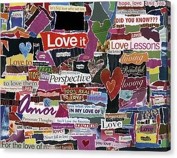expression'd Love  Canvas Print by Kenneth James