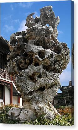 Exquisite Jade Rock - Yu Garden - Shanghai Canvas Print by Christine Till