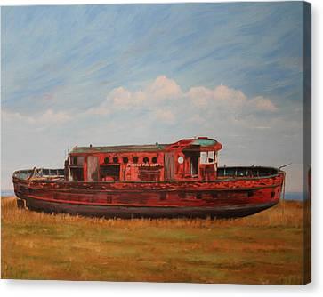 Extinguished   The Joseph Medill Fireboat Canvas Print by Daniel W Green
