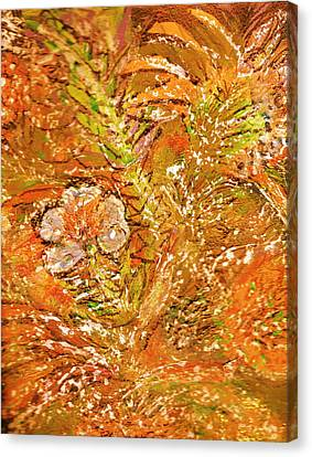 Extravaganza Orange Canvas Print by Anne-Elizabeth Whiteway