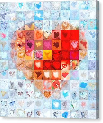 Extreme Makeover Home Edition Katrina's Heart Two Canvas Print by Boy Sees Hearts