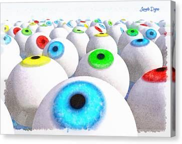 Eye Farming And Growing - Da Canvas Print by Leonardo Digenio
