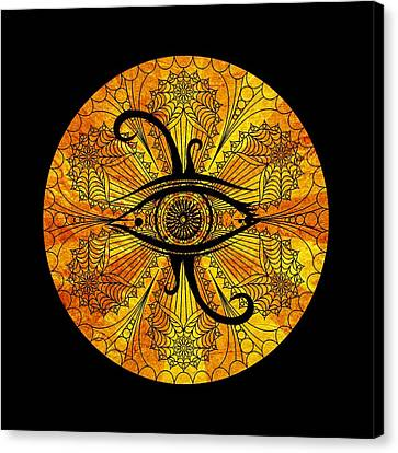 Eye Of Egypt Canvas Print by Islam Hassan