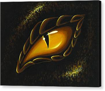 Eye Of Golden Embers Canvas Print by Elaina  Wagner