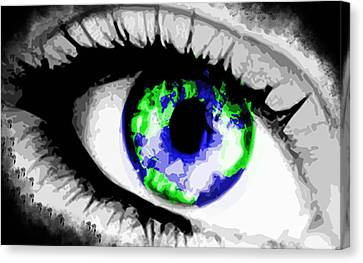 Eye Of The World Canvas Print by Danielle Kasony
