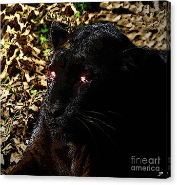 Eyes Of The Panther Canvas Print by David Lee Thompson