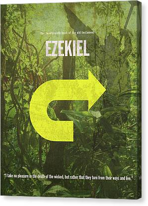 Ezekiel Books Of The Bible Series Old Testament Minimal Poster Art Number 26 Canvas Print by Design Turnpike