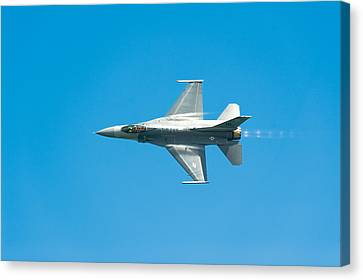F-16 Full Speed Canvas Print by Sebastian Musial