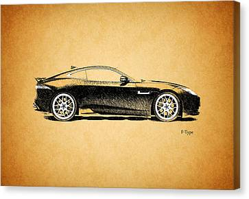 F-type Jaguar Canvas Print by Mark Rogan