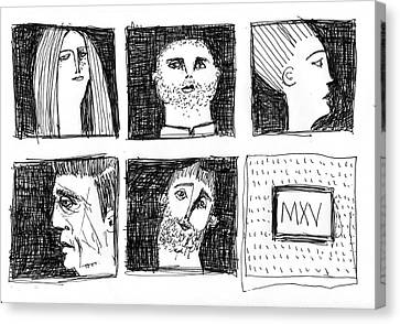 Fabulas No. 6  Canvas Print by Mark M  Mellon