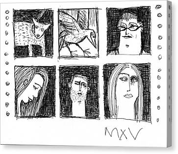 Fabulas No. 7  Canvas Print by Mark M  Mellon