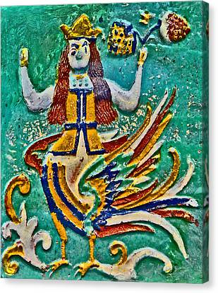 Facade Tile. Sirin Or Alkonost. Canvas Print by Andy Za