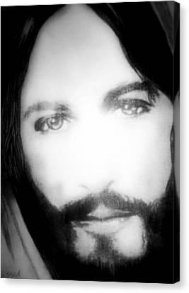 Face Of Jesus Canvas Print by Susan  Solak