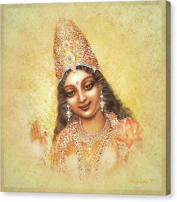 Face Of The Goddess - Lalitha Devi - Without Frame Canvas Print by Ananda Vdovic